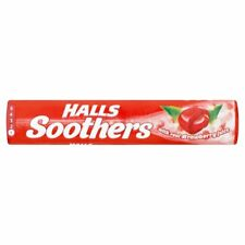 HALLS SOOTHERS WITH REAL STRAWBERRY JUICE.PACK OF 20x45g. FREE DELIVERY