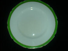 GRINDLEY White/Green/Gold Petal Edge 8 3/4 inch Plate c1936-54