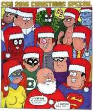 COMIC SHOP NEWS CSN 2016 CHRISTMAS PROMO GIVEAWAY SUPERMAN SPIDERMAN HELLCAT