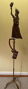 Authentic Models Kinetic Balance Folk Art Statue Of Liberty Floor Stand W/ Tag