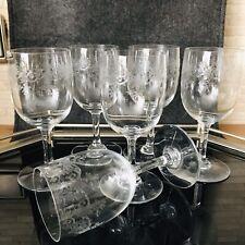 Baccarat France Crystal Gläser Sevigne 6 Weingläser Rotwein 14,2 cm