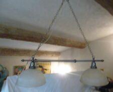 Lustre de billard -Suspension double. Style industriel. Métal vieilli. 90cm