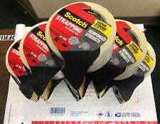 6 ROLLS! Scotch Strapping Tape 30 yards each Fiberglass Reinforced *Super Strong