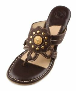Nurture Dynamic Women's Nutty Leather Wedge Thong Sandals size 8