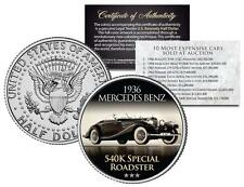1936 MERCEDES 540K SPECIAL ROADSTER Expensive Auction Car JFK Half Dollar Coin