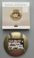 NIB BURNES OF BOSTON - Bronze Baseball Shaped Picture Frame
