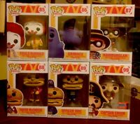 Funko Pop Captain Crook NYCC FCE + Macdonalds Lot 6 Pops LE W/PPs Ad Icons