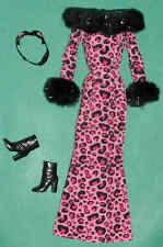 GLAMOROUS PINK LEOPARD BARBIE GOWN ~ PERRR-FECTLY HALLOWEEN ~ CAT COSTUME