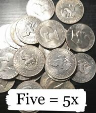 ✯5 Eisenhower Ike Coins MIX SILVER DOLLAR LOT 1971-1978, FIVE Coin SET P D 1976✯