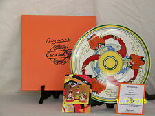 Wedgwood Bizarre Clarice Cliff Commemorate Hand Painted Charger Art Deco Style