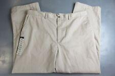 haggar mens khaki pants 40x30 chino beige flat front comfort waist