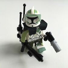 Lego Star Wars Custom Horn Clone Trooper Commander + Top Custom Equipment