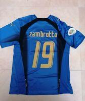 MAGLIA ITALIA ZAMBROTTA 19 MONDIALE GERMANIA 2006 RETRO VINTAGE JERSEY PATCH
