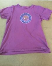 "Life is Good Short Sleeve T-Shirt Purple S'more ""You Complete Me"" Women's Medium"
