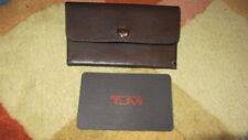 TUMI Kona Card Case Leather Brown Unisex (NEW) -$AVE DI$COUNT $AVE