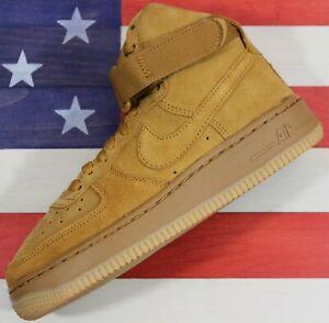 Nike Air Force 1 AF1 High LV8 Wheat/Gum Light Brown Youth/Boy 3.5 Y [807617-701]