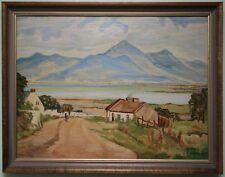Irish Art Original Oil Painting THE MOURNES, N. IRELAND by Artist ETHEL ANDERSON