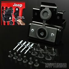 For 07-15 Jeep Wrangler JK Engine Hood (Under Grill) Locking Latch Kit Assembly