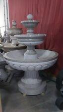 Peachy Gray Fountain Granite 3 Tier Garden Outdoor Water Modern FT-09A