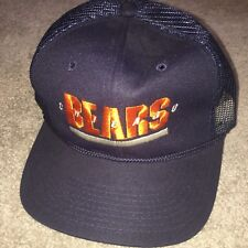 Vintage Retro Chicago Bears Meshed Collectable Embroidered NFL Rare Baseball Cap
