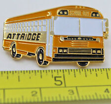 Attridge Yellow School Bus Collectible Pin
