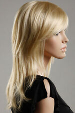 Fashion Charming Medium Blonde Straight Hair Wigs for Women Wig