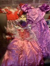 Costume Carnevale Ragazza Bambina Principesse Rapunzel Aurora E Spagnola