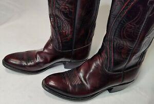 Lucchese Men's Black Cherry Cowboy Boots Style L6630 Size 10D