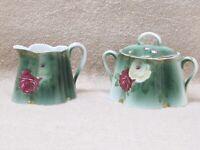 Antique Rosenthal Bavaria Creamer & Sugar Bowl Chrysanthemum Pattern