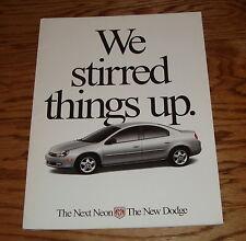 Original 1999 Dodge Neon Deluxe Sales Brochure 99