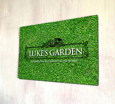 Personalised Garden Outdoor allotment sign A4 metal Sign