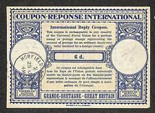 IRC INTERNATIONAL REPLY COUPON GREAT BRITAIN 6d TYPE B5 1949