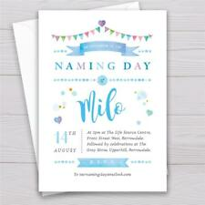 Personalised Naming day invitations Boy or Girl invites invitations