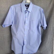 Stafford Men's size 15.5 Blue Short Sleeve Shirt Medium