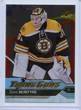 16/17 UPPER DECK YOUNG GUNS SILVER FOIL ROOKIE #496 ZANE MCINTYRE BRUINS *49940