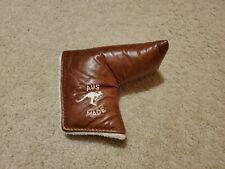 ***Lajosi Premium Tan Leather Magnetic Putter Headcover***