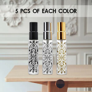 5Pcs Portable Refillable Perfume Atomizer Spray Empty Bottle Glass 10ml