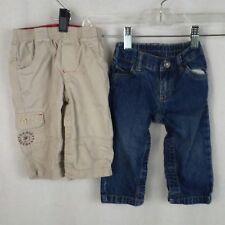 Lot of 2 pairs Carters boys pants jeans Size 9M Blue jeans Khaki pants