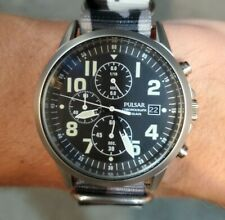 Pulsar Gents Military Chronograph Mens Watch - PM3175 US SELLER