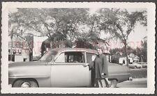 Vintage Car Photo Woman w/ 1953 Plymouth Automobile 672388