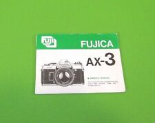 Fujica AX-3 Instruction Booklet