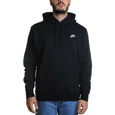 Nike Club Fleece Felpa Uomo BV2654 010 Black Black White