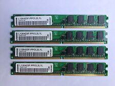 4GB LEGEND RAM DDR2 667MHz SDRAM (4 by 1 GB) DESKTOP 240 PIN HP P/N 377726-888