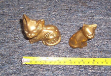 Vintage brass cat ornaments both used see details