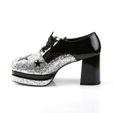 Silver Gold Pimp Daddy 70s Disco Dance Party Platform Costume Mens Shoes
