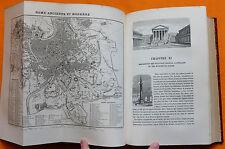 MARY-LAFON ROME ANCIENNE ET MODERNE 1854 Furne E.O. 24 pl. Rouargue 1 plan dépl.
