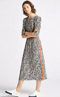 MARKS AND SPENCER LIMITED EDITION ANIMAL PRINT HALF SLEEVE MIDI DRESS 6 BNWT