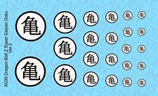 Scale Action Figure Dragon Ball Z DBZ Turtle Waterslide Decals Logos