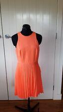 Witchery orange sleeveless fully lined polyester dress Size 12