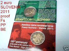 coin card 2 euro 2011 Fs proof BE PP SLOVENIA ROZMAN Slovenie Slowenien Slovenië